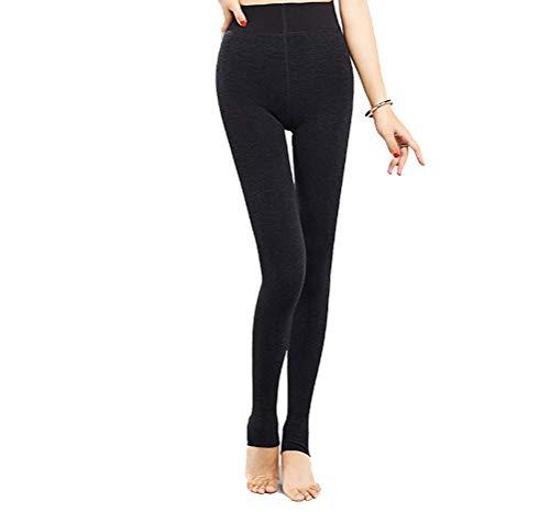SJZC Leggins Donna Leggings Termici Invernali Pantaloni Fitness Modellante Legins Legghins005,Gray,One-Size