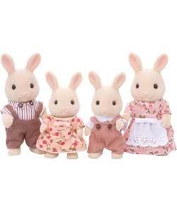 Sylvanian Families Famille de lapins de lait.