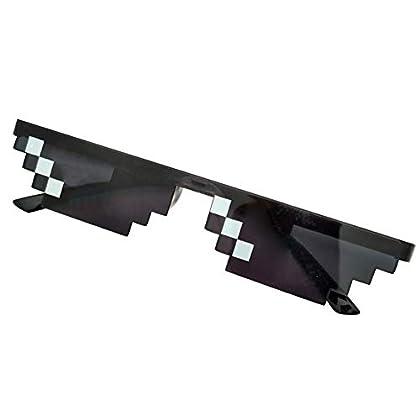 Domeilleur - Gafas de Sol con píxeles para Homb...