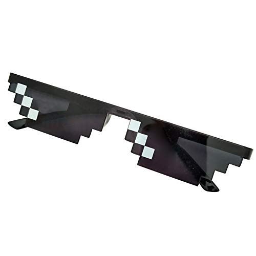 ZREAL Männer Frauen MLG Pixelated Sonnenbrille Thug Life Party Brillen Mosaik Vintage Eye Wear