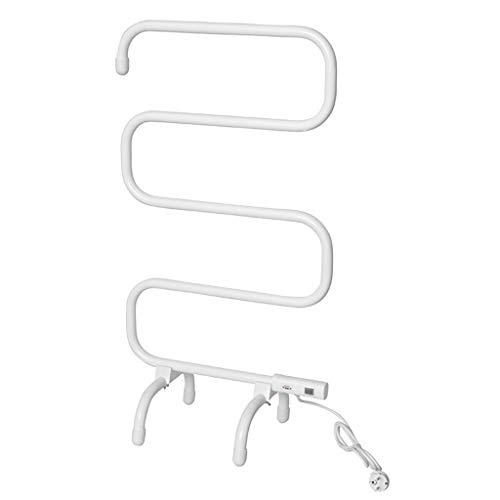ZYY-Towel rack Elektrischer Handtuchhalter, 100 W, WäSchestäNder, Plug-and-Play, Einfache Installation Im Home-Floor-Stil, Intelligenter Elektrischer Heizungs-WäSchestäNder, Weiß