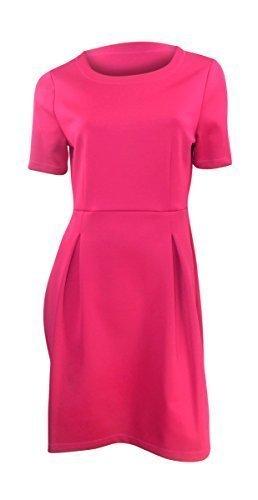 marks-spencer-rose-fonce-a-manches-courtes-convient-ausgestellt-scuba-tissu-robe-rose-36
