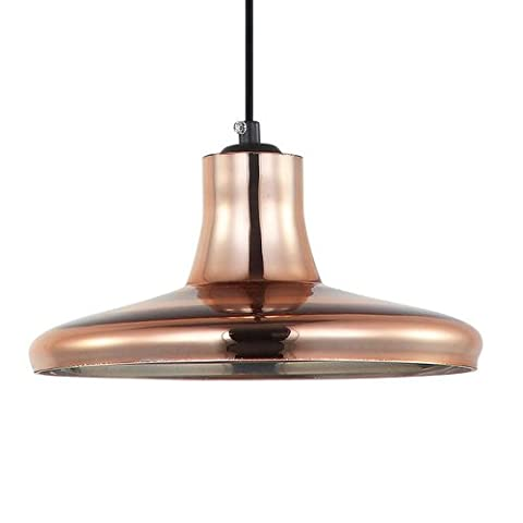 Ceiling lamp metal and glass in Copper Finish, with Screen Diameter 24cms and for Dichroic Bulb GU10LED or