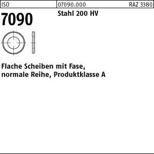 1 Scheiben ISO 7090 Stahl 60 (66 x110 x10 ) 200 HV