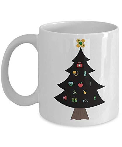 72f821ef440 Christmas Tree Nurse T-Shirt Funny Nurse Christmas Gift Tee Coffee Mug,  Funny,