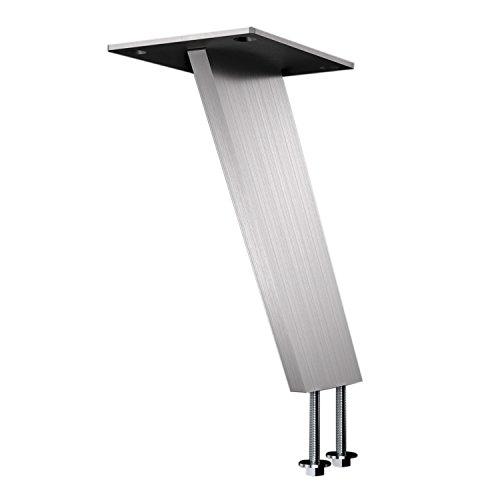 Bar-Konsole KORFU schräg 60° | 60x10 mm | Edelstahl gebürstet | Höhe: 170 mm | 1 Stück