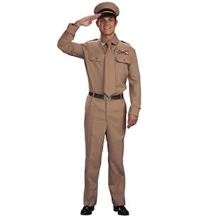 Imagen 2 de Army GENERAL US WW2 GI 1950s Soldier Mens Fancy Dress (disfraz)