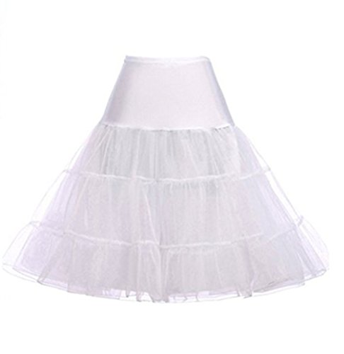 Hosaire 1X Sottogonna battenti Vintage Petticoat Fancy Net Gonna Rockabilly Tutu (BIANCO), Le ragazze e le donne sono la scelta migliore, Gonne,S