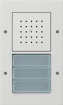 Gira 126766 AP-Türstation reinweiss m.Türlautsprecher u. 2-/3-fach Ruftaster