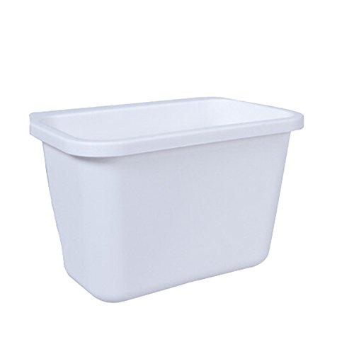 mochiglory Kunststoff Küche Desktop Aufhängen Botschaften Trash Food Aufbewahrungsbox, plastik, weiß, Large -