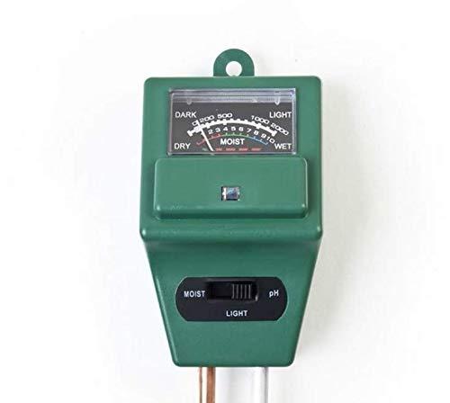 fykj tester per il terreno, 3-in-1 ph metro, sensore di umidità del suolo, luce misurazione del livello di ph per coltivare giardino, prato, fattoria, piante, fiori, verdure, erbe e altro