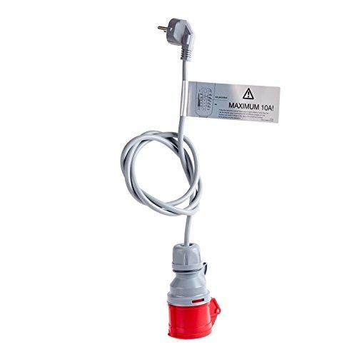 Preisvergleich Produktbild Adapter Schuko für Proteus-NRGkick Ladekabel für Elektroauto Proteus-Proteus-NRGkick 16 und NRGkick 16 light, Notladekabel 230 Volt Schuko, 230 Volt CEE