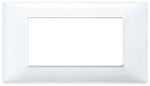Vimar 14654.01 Placca 4 Moduli, Bianco