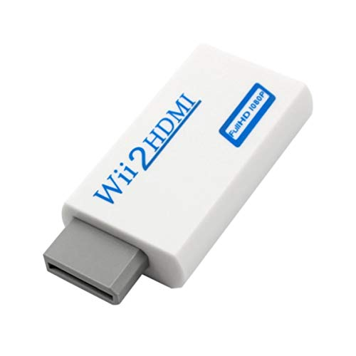Noradtjcca Für Wii zu HDMI Konverter Für Wii zu HD-TV/HD-Projektor 720p / 1080P Video Audio in Full Digital HDMI 720p 1080p Ntsc Pal Hdtv