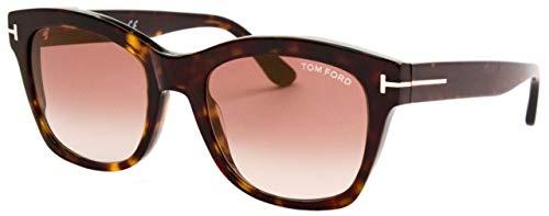 Tom Ford Sonnenbrillen LAUREN-02 FT 0614 Dark Havana/Brown Shaded Unisex