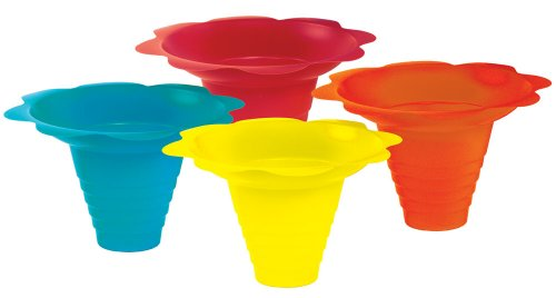 Eis-konzession (Paragon 240ml Sno-Cone Flower Drip Tray Cups, Multicolor, 100-Cup Case)