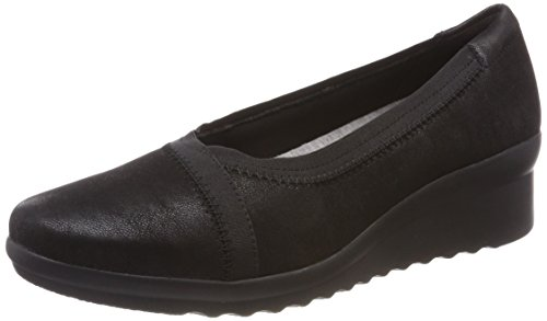 Clarks Damen Caddell Dash Pumps, Schwarz (Black Synthetic), 39 EU (Damen Dash)