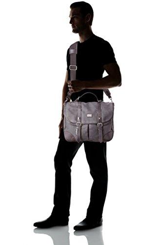 Des Sacoche en cuir & toile Langdale, équalisateur Sangle d'épaule, Housse pour ordinateur portable Dark Carbon