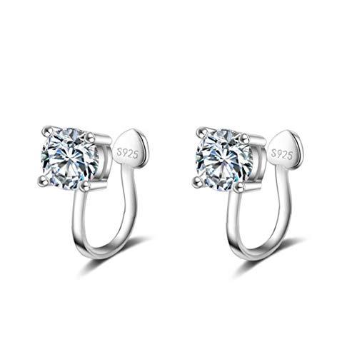 1 Paar 4mm-Ohrring Für Frauen Non Piercing Clip Mental Diamant-Ohrring-Punk-Ohr-Stulpe (Mich Tragen Halloween-kostüm Machen)