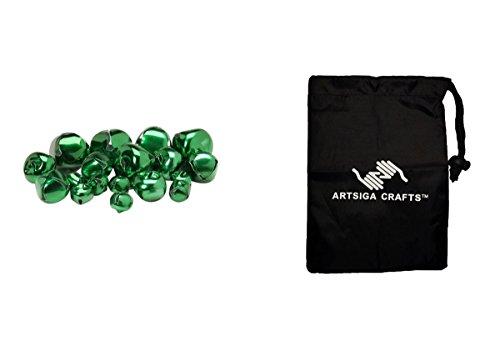 ingle Bells grün Sortiert Größen 19Teile (3Pack) 109995Paket mit 1artsiga Crafts Tasche Klein ()