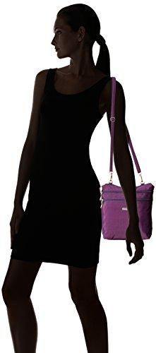 Baggallini Zipper Bag Borsa Messenger, Nero (Black) Viola