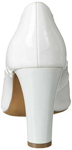 Caprice Damen 22405 Pumps Weiß (WHITE PATENT)
