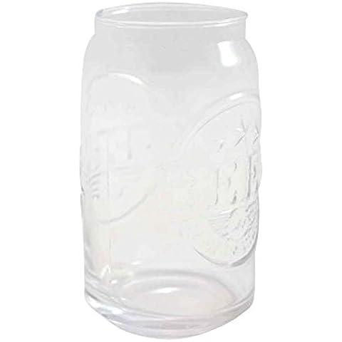 Vaso de cristal, modelo lata de cerveza, set de 6 (13x8)