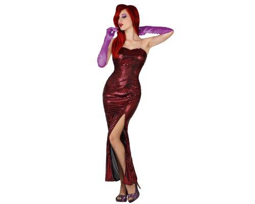 ädchen Kostüm, Größe XL, rot (Jessica Rabbit Kostüm)