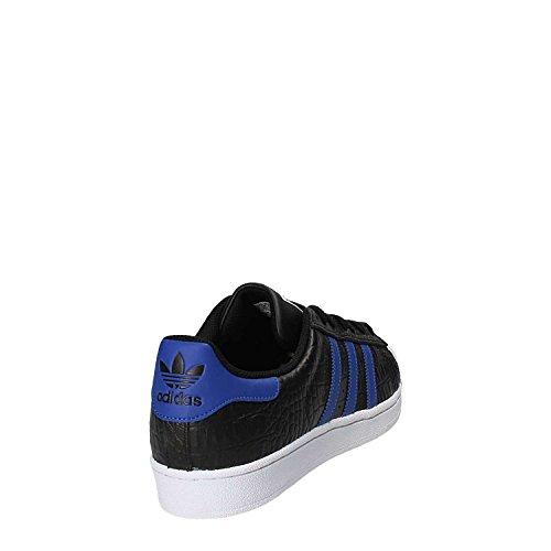 adidas Superstar, Scarpe da Ginnastica Basse Uomo Nero (Negbas / Azufue / Azufue)