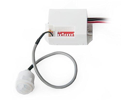 Mini IR Bewegungsmelder Einbau Infrarot Sensor 12V 100° 8m 5 Sek - 8 Min