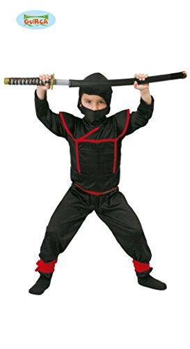bi, Ninja, Samurai, Farbe Schwarz, Kinder 7/9 Jahre, 81887 ()