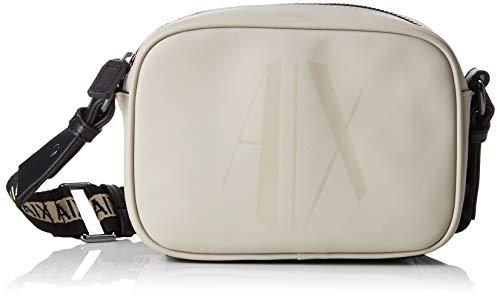 Armani Exchange Damen Small Crossbody Bag Umhängetasche, Braun (Beige) 13x6.5x18 cm