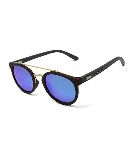 Paloalto Sunglasses Richmond Lunettes de Soleil Mixte Adulte, Brown  Dark Bamboo 5bf795195622
