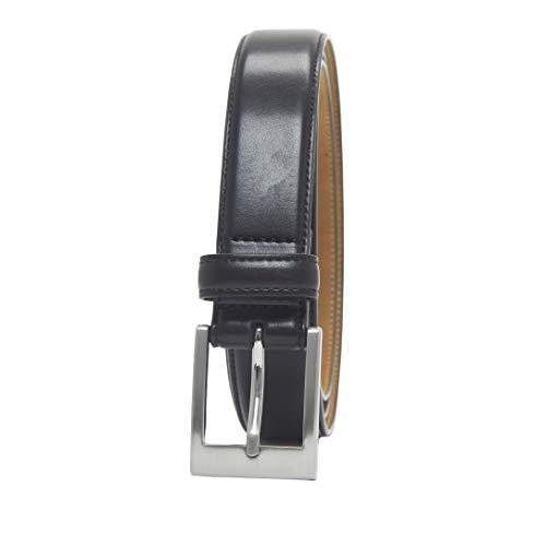 Amazon essentials - cintura classica da uomo, nero (black 001), 40/100
