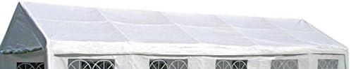 DEGAMO Ersatz Dachplane für Zelt 4x10 Meter, PE weiss