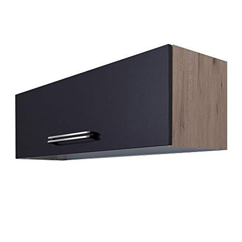 MMR Küchen-Klapphängeschrank LONDON - Küchenschrank - Hängeschrank - 100 cm breit - Anthrazit