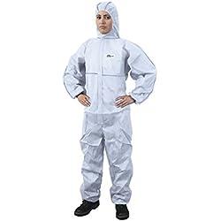 Traje de protección contra multiusos para trabajo con productos químicos, anochecer, partículas nucleares, antiestático protección general categoría III, tipo 5y 6