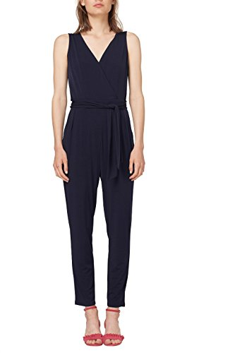 ESPRIT Collection Damen Slim Jumpsuit 058EO1L001, Blau (Navy 400),  (Herstellergröße: X-Large)