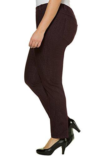 Ulla Popken Große Größen Damen große Größe bis 62+, Jeggings, Hose, Leggings , Denim , Overdyed, Stretch, Gummi-Bund, Slim Fit, Skinny , 686492 Violett