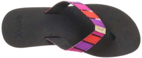 Reef GUATEMALAN LOVE BLACK/HOT PINK R1172BHP Damen Zehentrenner Schwarz (BLACK/HOT PINK)