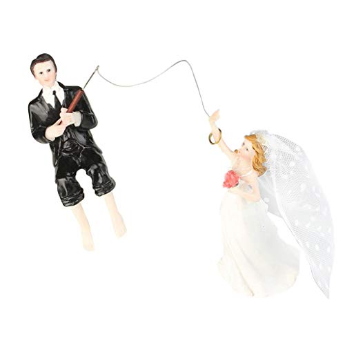 Descripción: - Decoración romántica de la torta de la novia y del novio de la boda - Fabricado en resina pintada, resistente y ligero. - Perfecto para muchas celebraciones y fiestas especialmente para bodas. - Material: Resina ...