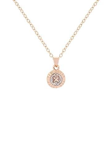 Ted Baker Elvina Rose Gold and Silver Glitter Enamel Mini Button Pendant of Length 42-44cm