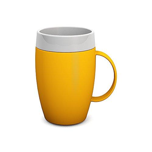 Ornamin Becher mit Trink-Trick und Thermofunktion 140 ml gelb (Modell 905) / Thermobecher, Spezial-Trinkhilfe, Schnabelbecher