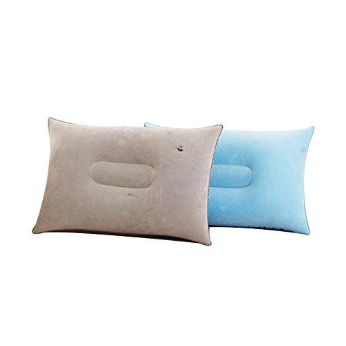 Ndier gonfiabile cuscino da viaggio, set con 2pz. portatile e leggero da campeggio cuscino per attività all' aperto, grigio e blu