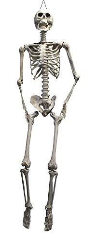 Das Kostümland XL Skelett Otto Halloween Hängefigur - 200 cm - Lebensgroße Gruselige Partydekoration Zum Aufhängen für Horror Mottoparty