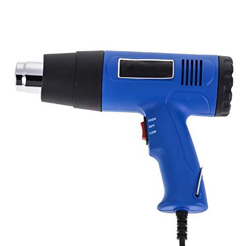 Hohe Temperatur-gebläse (FOCCYS Temperatur Gebläse Auto Folien Pistole Industrielle Heißluftpistole EU Stecker 1500W Dual Elektrowerkzeug 300-500° mit 4 Düsen)