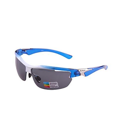 Retro Vintage Sonnenbrille, für Frauen und Männer Sport-Sonnenbrille Classic PC Polarized Lenses Half Frame Für Outdoor-Männer Frauen Driving Radfahren Anti-UV-Anti-Rutsch-UV-Schutz (Farbe : White)