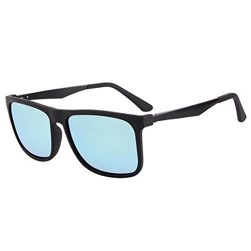 CHEREEKI Polarisierte Sonnenbrille UV400 Retro Vintage Brille für Herren und Damen (Blau)