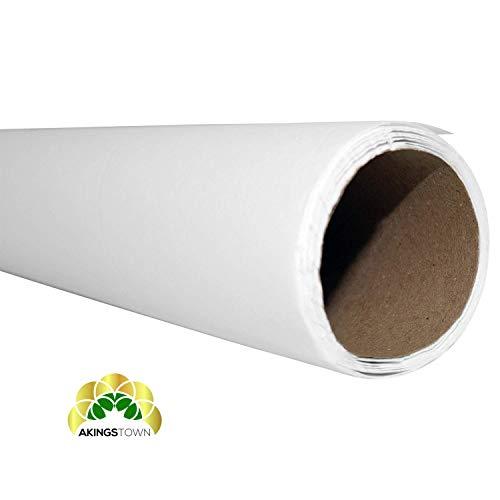 Akingstown Seidenpapier 100cm breit, 10m Rolle - 22 g/qm -Juwelierseide- zum Zeichnen Basteln Gestalten Zuschneiden- Skizzen-Papier - Packseide weiß transparent- Seidenpapierrolle