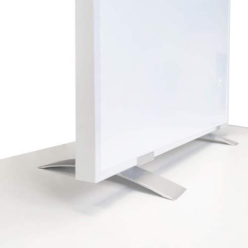 VIESTA SF2 Standfüße für Infrarotheizung, Standfuß passend für F- und CF-Serie Heizpanel, Flachheizkörper - für freistehende Verwendung Elektroheizung, Ständer (2er Pack) - Aluminium, Zubehör Silber